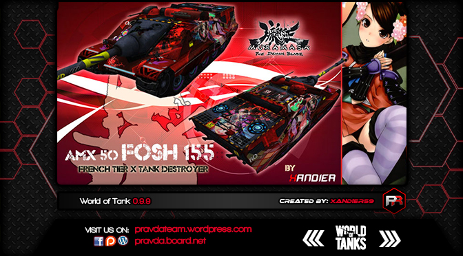 WoT Skin:  Fosh 155 France Tier 10 Tank Destroyer