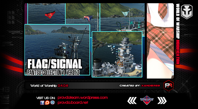 WoWs Misc: Pantsu Flag/Signal v1.0