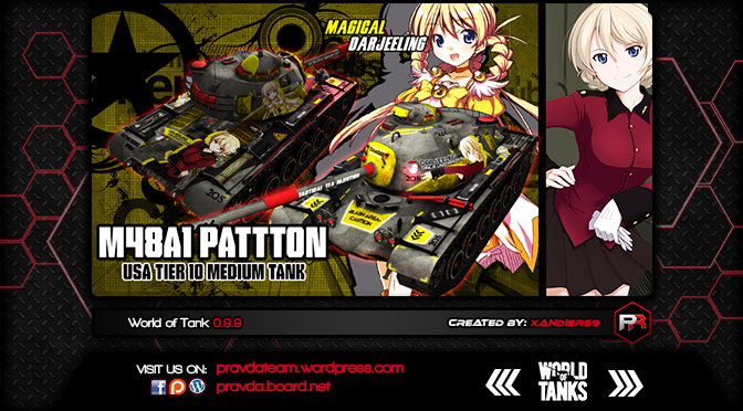 WoT Skin:  M48AI Patton USA Tier 10 Medium Tank