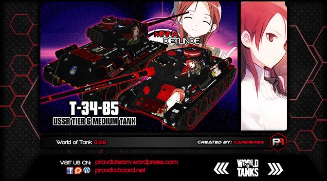 WoT Skin:  T-34-85 Soviet Tier 6 Medium Tank