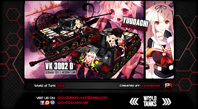 WoT Skin:  VK 3002D German Tier 6 Medium Tank