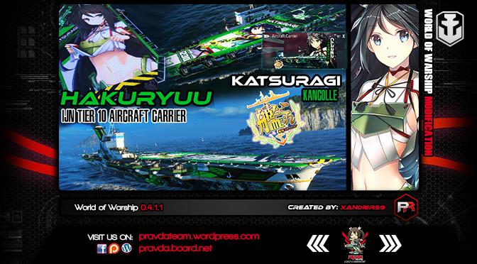 WoWs SKIN: IJN TIER 10 Carrier – Hakuryuu Ver1.0