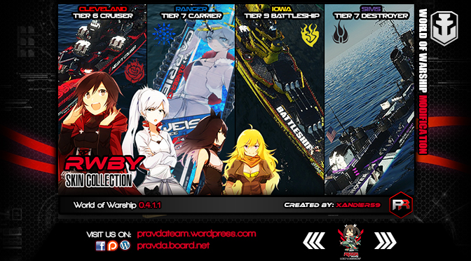 WoWs SKIN: RWBY Skin Collection Version 2.1