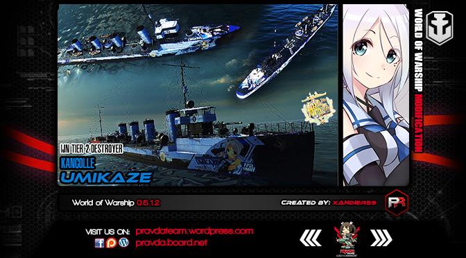 WoWs SKIN: IJN TIER 2 Destroyer – Umikaze (Kancolle)