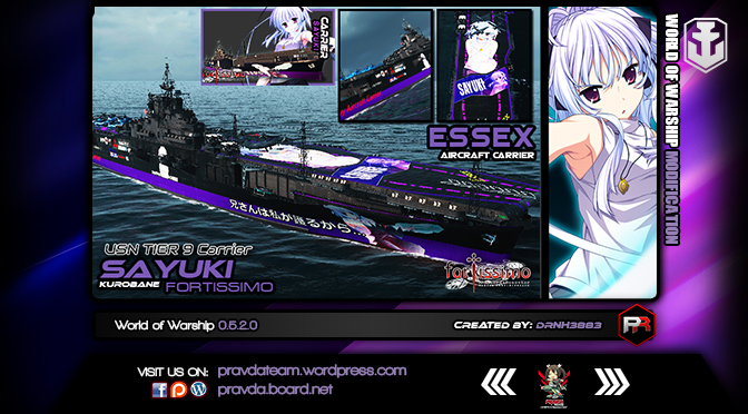 WoWs SKIN: USN Tier 9 Carrier – Essex [Sayuki Kurobane]