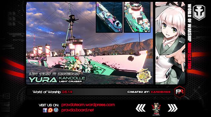 WoWs SKIN: IJN Tier 4 Cruiser – Iwaki Alpha [Yura]