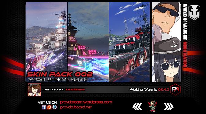 WoWs Skin: Skin Pack 002 | Pravda Team
