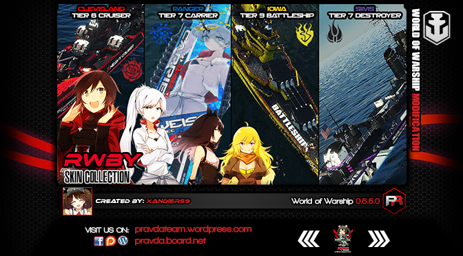 WoWs SKIN: RWBY Skin Col0lection Version 2.2