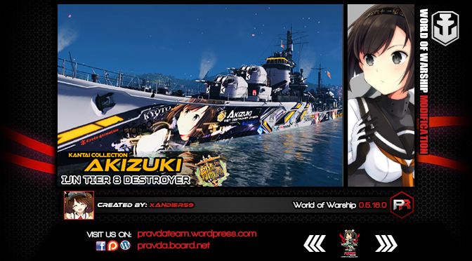 WoWs SKIN: IJN Tier 8 Destroyer – Akizuki v1.0