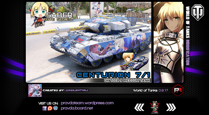 WoT Skin: Centurion 7/1 – UK Tier 9 Medium Tank [Ver1.1]